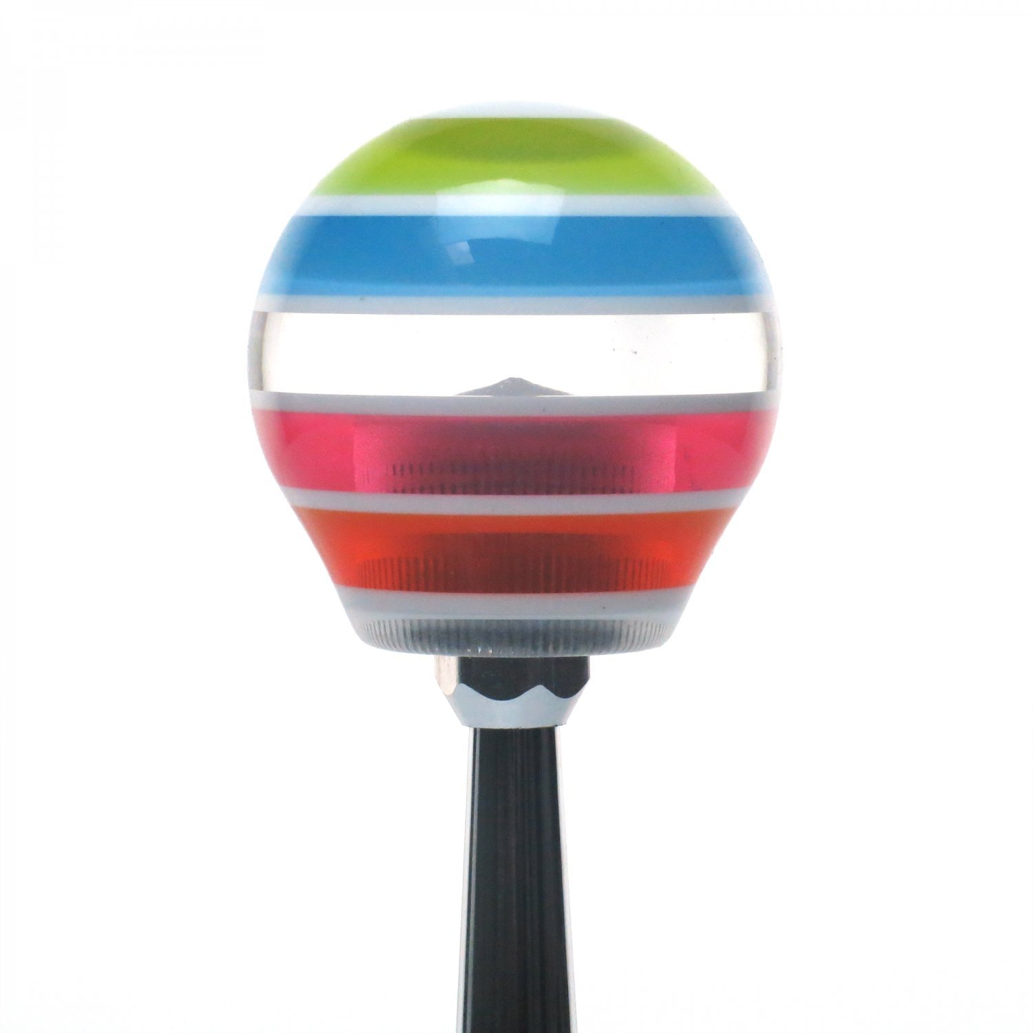 White Bad Ass Flags American Shifter 131095 Stripe Shift Knob with M16 x 1.5 Insert