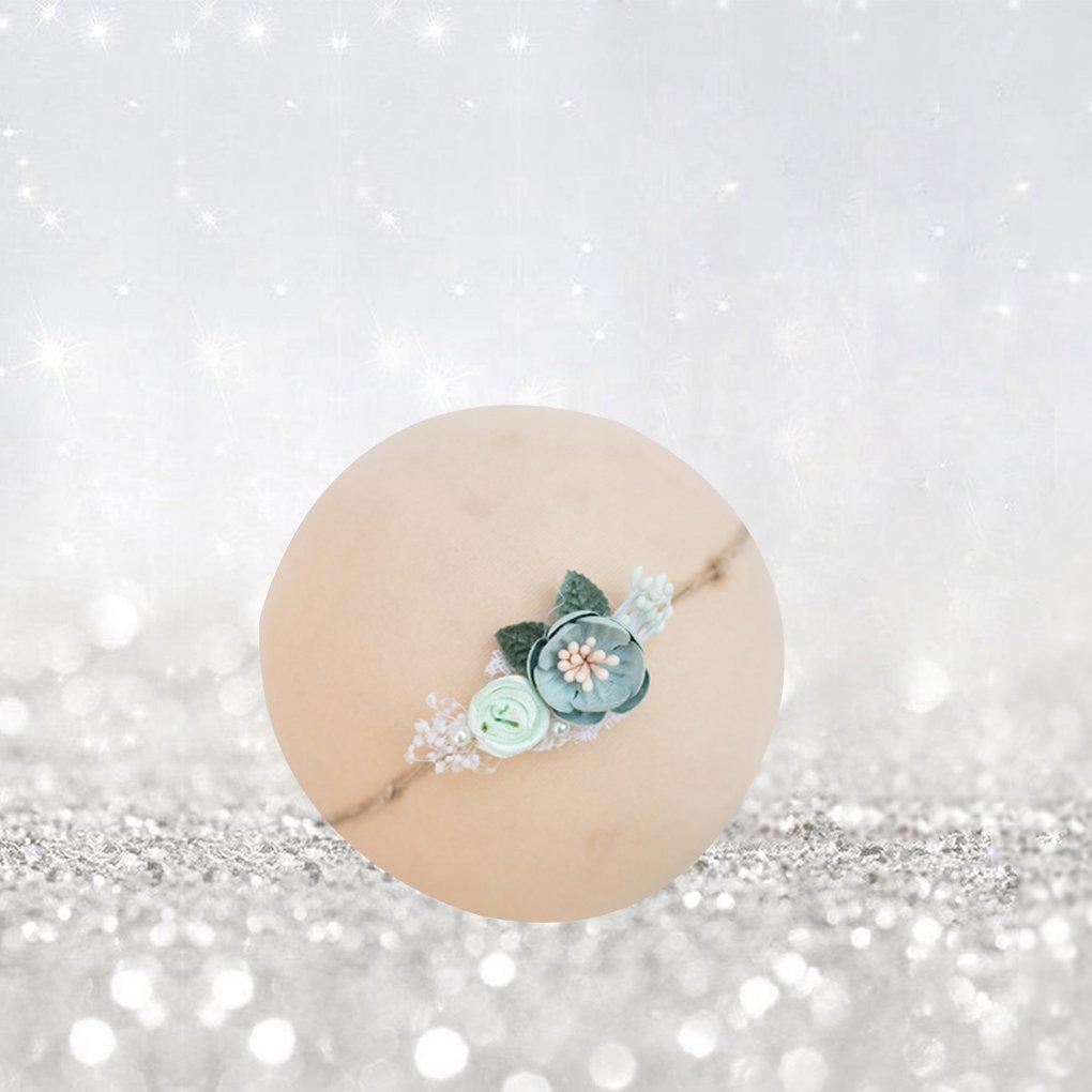 Masterein Pearl b/éb/é Fleur Bandeaux Fille Bandeaux Nouveau-n/é Infant Couvre-Chef Photo Props Accessoires Cheveux 10#