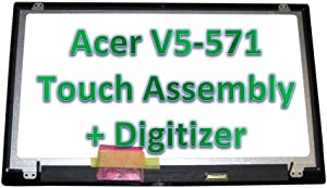 """Kreplacement 15.6"""" Touch Screen Replacement B156XTN03.1 & Digitizer for Acer Aspire V5-571P-6429 MS2361"""