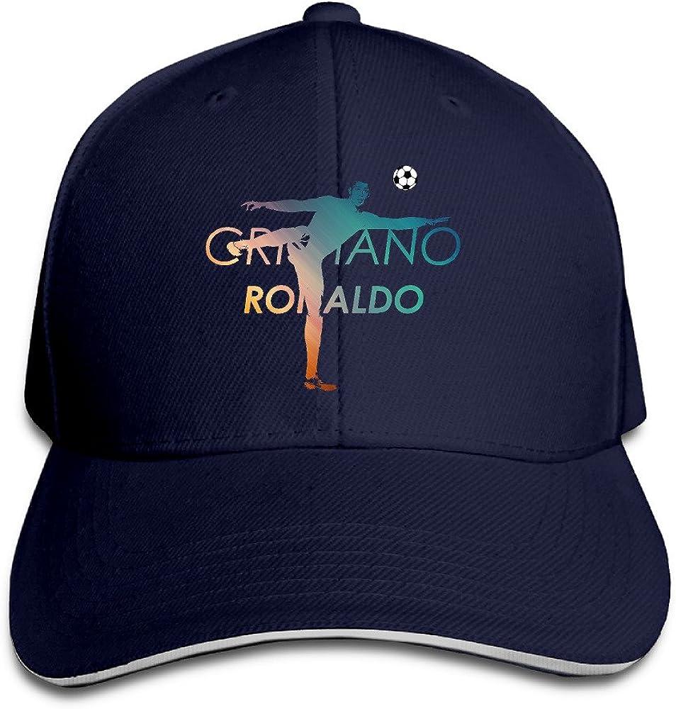 Cristiano Ronaldo Image Football Baseball Hat Sandwich Bill Hat
