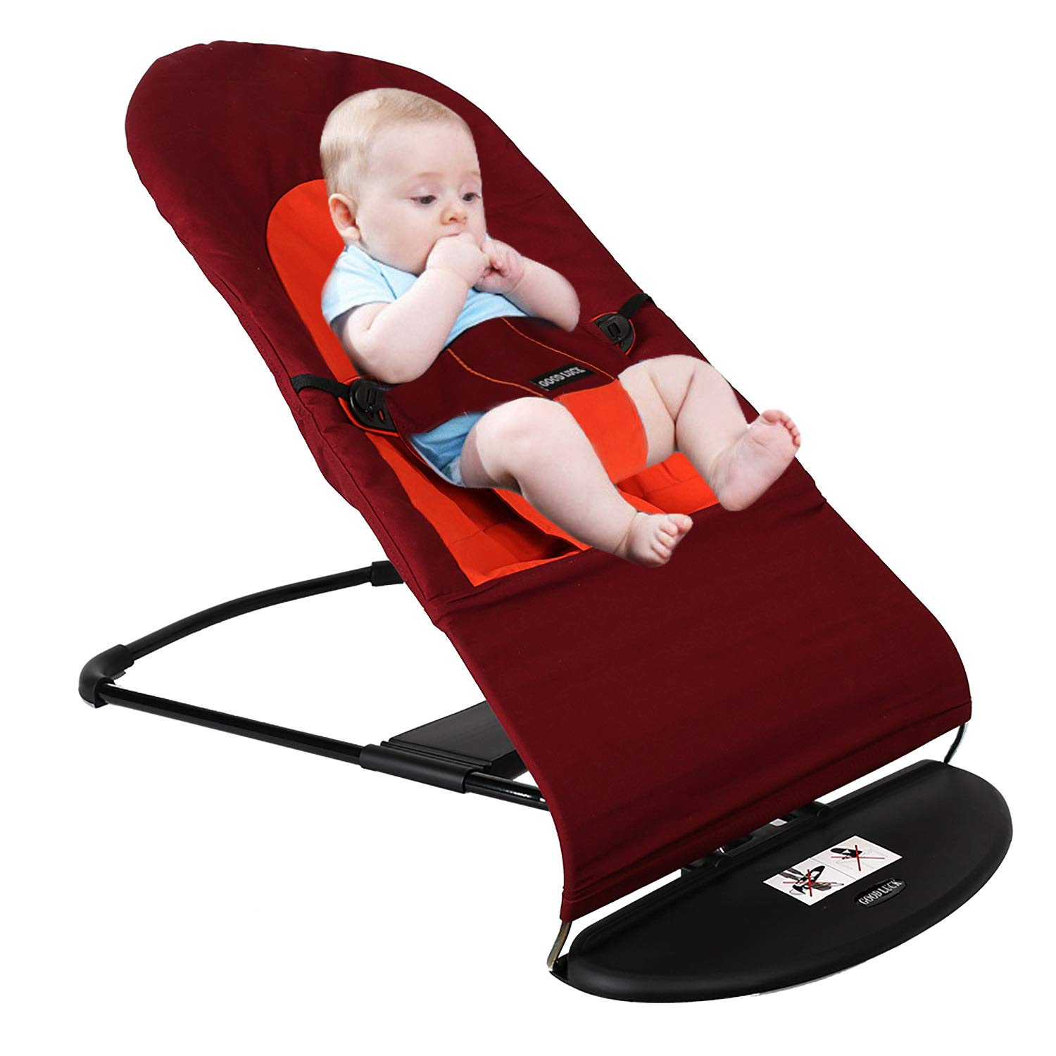 Baby Bouncer Balance Soft Rocking Chair,Automatic Swing Bring Fun Experience, Cotton Dporticus