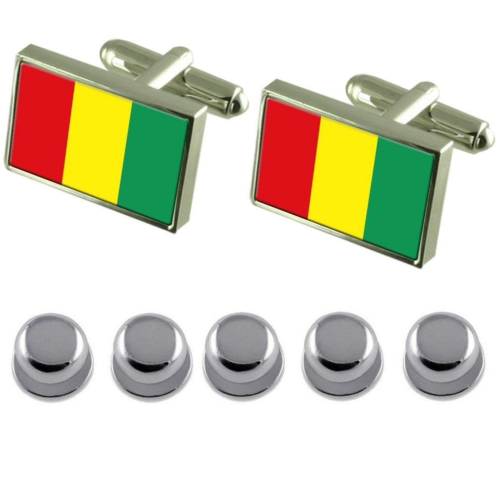 Select Gifts Shirt Dress Studs Guinea Flag Cufflinks