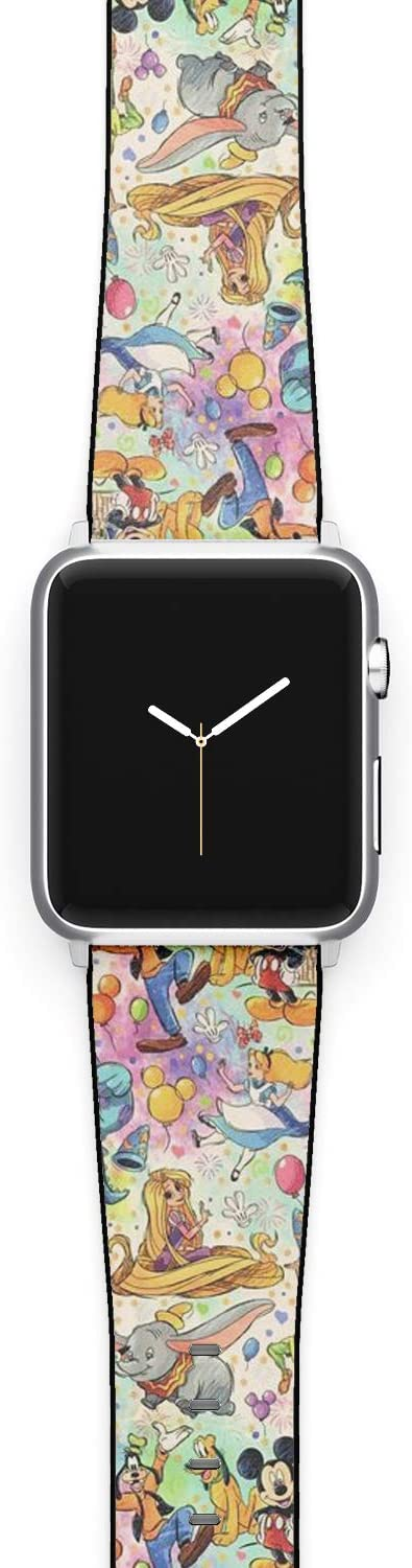 Watch Band Compatible with Apple iWatch All Series 38mm 40mm 42mm 44mm Cartoon Design Strap (cart1) (38/40mm)