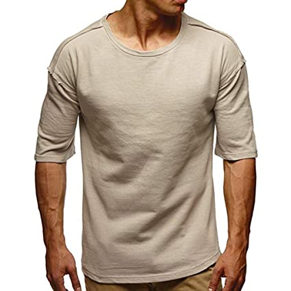e6babb9b2341 Image Unavailable. Image not available for. Color: Men's Round Neck Shirts  ...