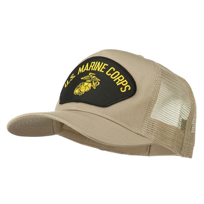 US Marine Corps Mesh Patched Cap - Khaki OSFM at Amazon Men's