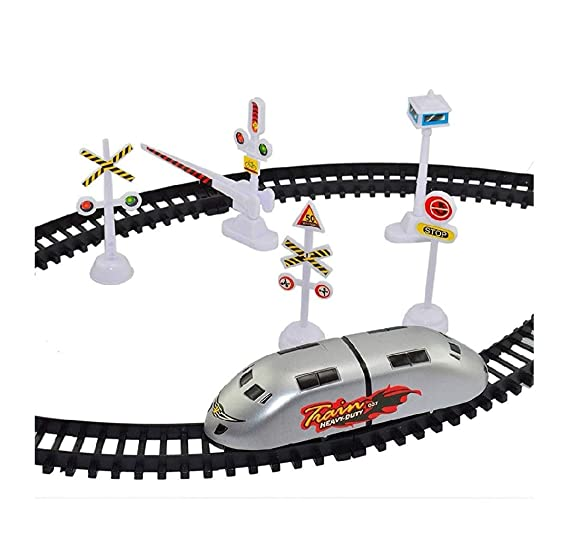 Vikas Gift Gallery Toyzrin High-Speed Battery Operated Bullet Train Toy Set Game with Tracks and Signals for Kids