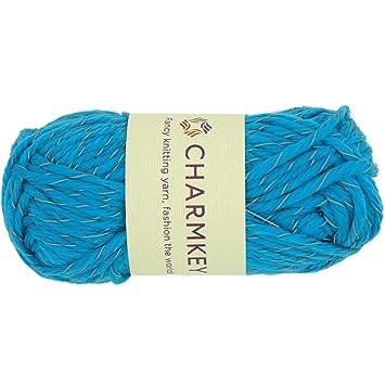 Charmkey Mode doux Twinkle 5 Encombrants Acrylique Polyester mélangé à  tricoter Craft Striping Flash réfléchissant Pelote 6be864259ff