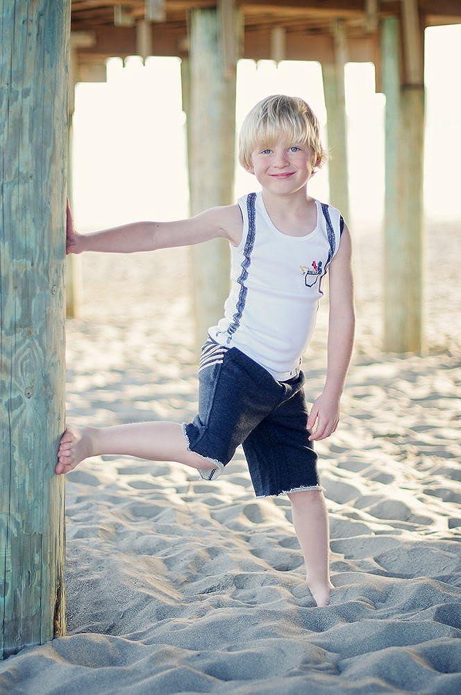 Mini Shatsu Little Boys Suspenders Toy Cars Tank Top
