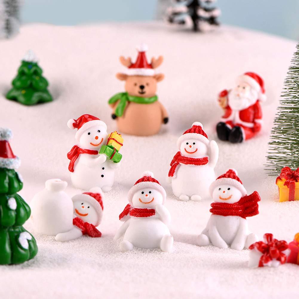 Miniature Santa Tree Snowman Figurine Toy DIY Garden Bonsai Decor Xmas Gift 1# GMNP0di/% Christmas Ornaments for Xmas Tree