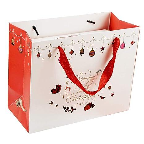 Shuda - 10 bolsas de regalo de Navidad con asas para regalo ...