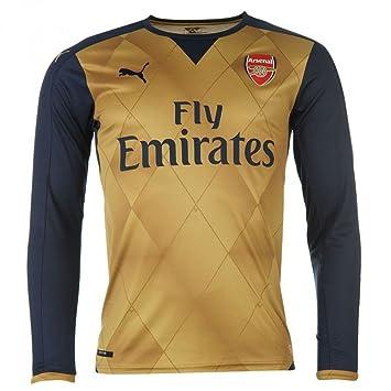 b64248c6796 Arsenal Away Shirt 2015 16 - Long Sleeve - Kids Gold 26-28  Amazon ...