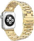 Aviato Apple Watch PREMIUM Edelstahl Armband 42 mm gold