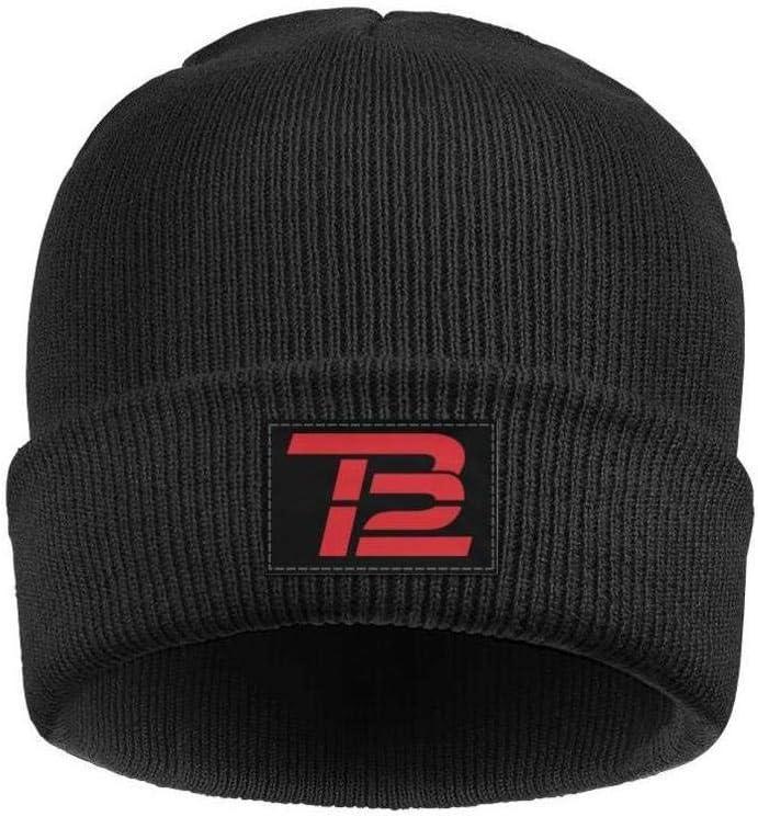 Black Tom Brady beanie with red TB logo