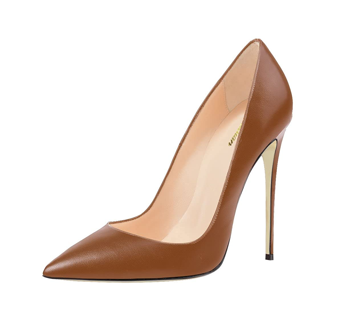 QianZuLian Womens Shoes The Shallow Mouth Stiletto Heels Suitable for Office Party The Wedding Sienna US8.5
