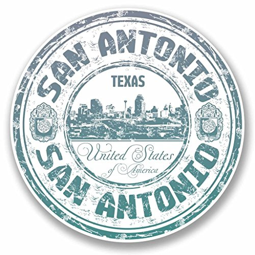 2 x 20cm/200mm San Antonio Texas USA Vinyl Sticker Decal Laptop Car Travel Luggage Label Tag #9707