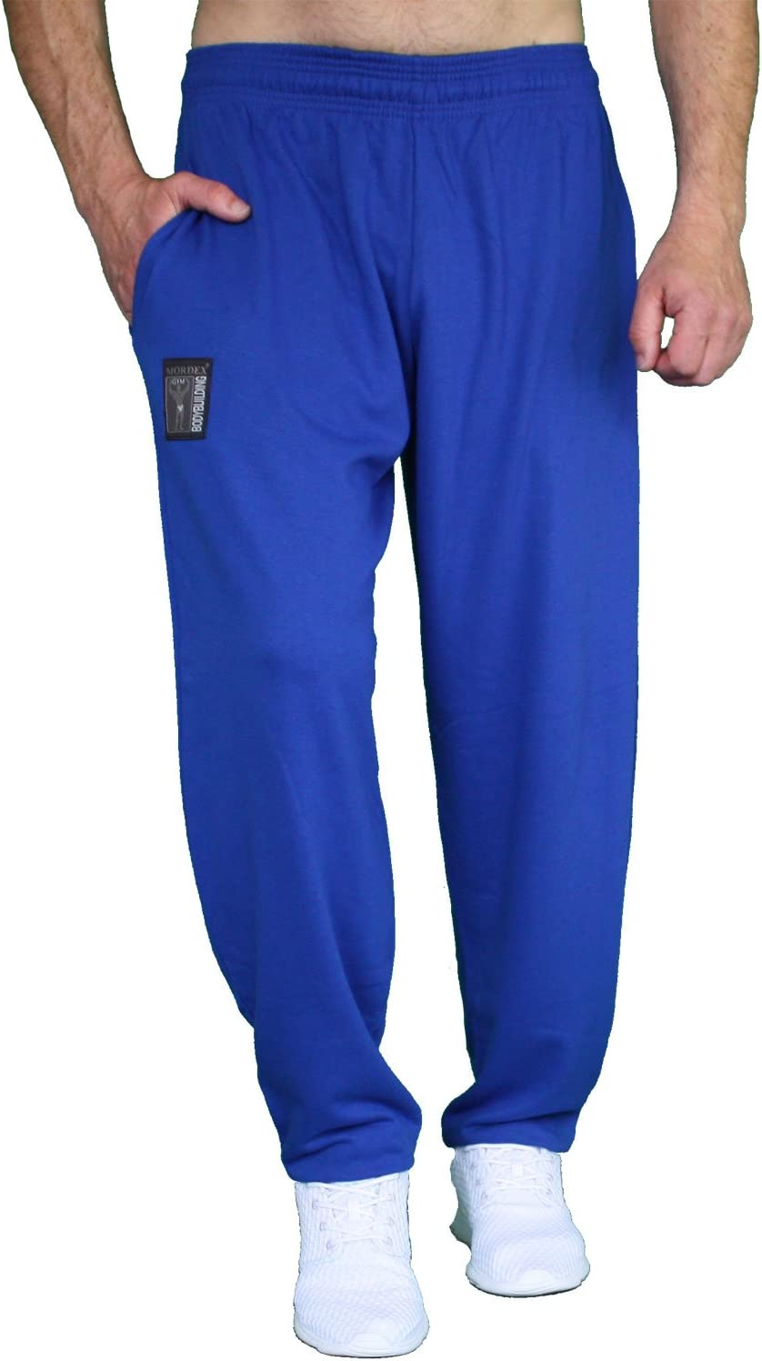 blaue 3//4 BW Bodybuilding Fitnesshose Sporthose Freizeithose MORDEX
