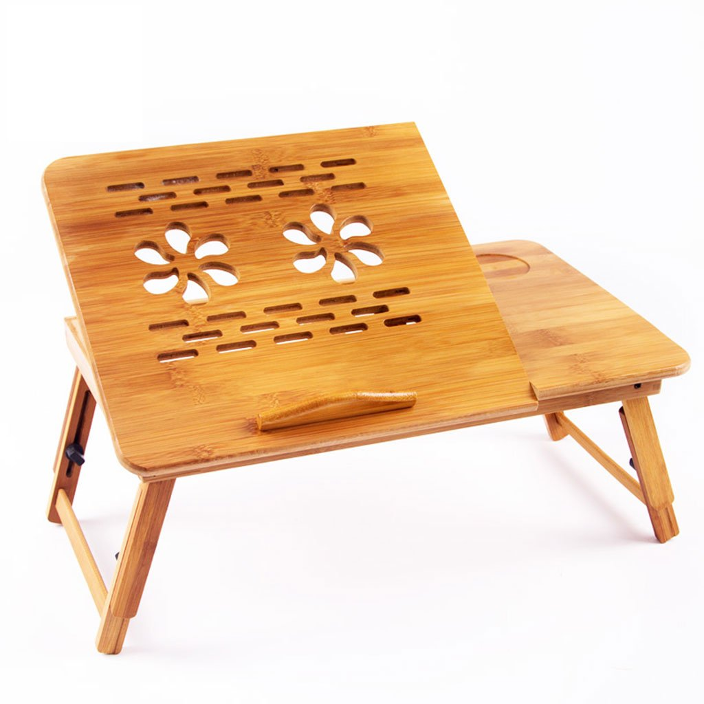 KKY-ENTER シンプルな折り畳みテーブル自然な竹の木製家庭の学生寮折り畳み式ラップトップテーブル折りたたみ式リフト傾斜式スモールデスク (サイズ さいず : L50*W30cm) B07DKBH829 L50*W30cm L50*W30cm