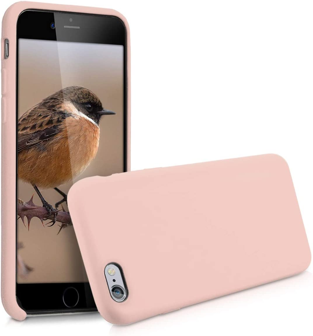 kwmobile TPU Silicone Case Compatible with Apple iPhone 6 / 6S - Soft Flexible Rubber Protective Cover - Dusty Pink