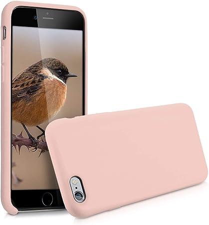 Kwmobile Hülle Kompatibel Mit Apple Iphone 6 6s Handyhülle Gummiert Handy Case In Altrosa Elektronik