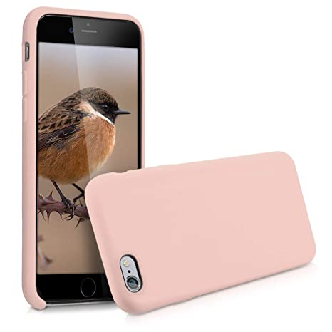 enfant divers design vente chaude en ligne kwmobile Cover compatibile con Apple iPhone 6 / 6S - Custodia in silicone  TPU - Back Case protezione cellulare rosa antico