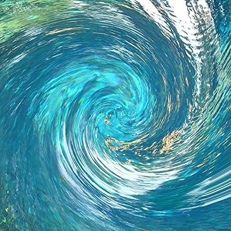 Amazon.com : Laeacco Sprial Blue Sea Water Backgroud 8x8ft ...