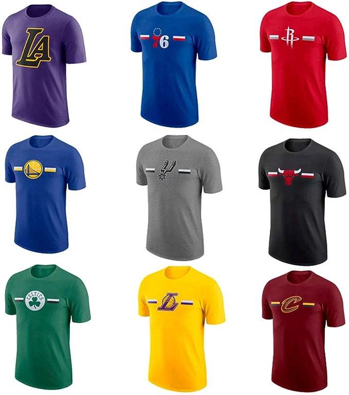 Camiseta de baloncesto Hombre Lakers Celtics Warriors Rockets ...