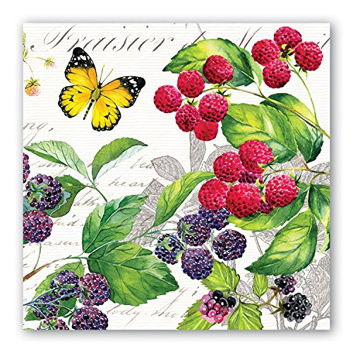 Michel Design Works 20-Count 3-Ply Paper Luncheon Napkins, Berry Patch