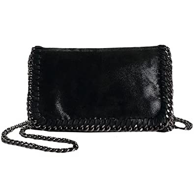 Amazon.com  Felice Women Chain Paillette Handbags Purse Hobo Hipster  Foldover Tote Shoulder Crossbody Bag (black)  Shoes 311bd9e04120e