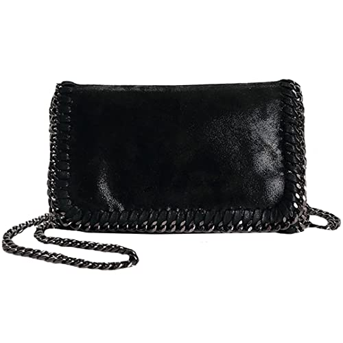 2594e57e988c Felice Women Chain Paillette Handbags Purse Hobo Hipster Foldover Tote  Shoulder Crossbody Bag