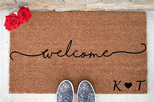 Personalized Welcome Doormat - Welcome Mat - Welcome Door Mat - Cute Doormat - Funny Doormat - Personalized Doormat - Personalized Door Mat (Family Personalized Doormats)