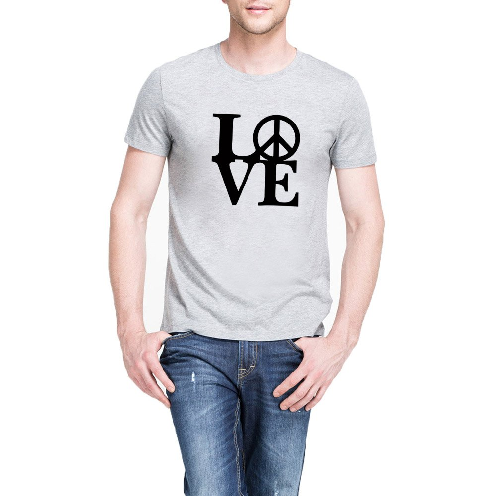 Loo Show S Love Peace Casual Graphic T Shirts Tee