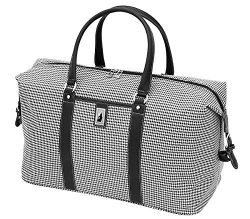 london-fog-cambridge-22-inch-weekender-black-white