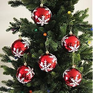 Sleetly Shatterproof Christmas Ornaments, Snowflake Balls, Set of 12
