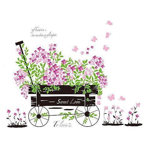 Inglés Cartas Amor Romántico flotadores de boda flores casa de papel adhesivo decorativo para pared vinilo