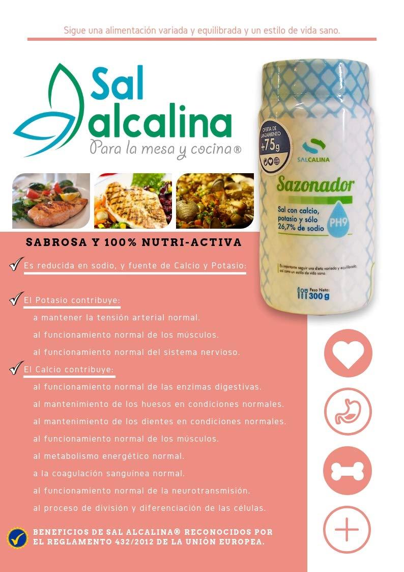 Sazonador Salcalina | La auténtica SALalcalina para la mesa y la cocina ®