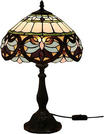 Odziezet Lámpara de Mesa 12 Pulgadas Estilo de Tiffany Europea ...
