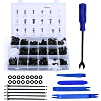 Remaches Plastico Clips de coche y clip de remache de guardabarros de plástico sujetador, 18 tamaños Kit de remaches de…