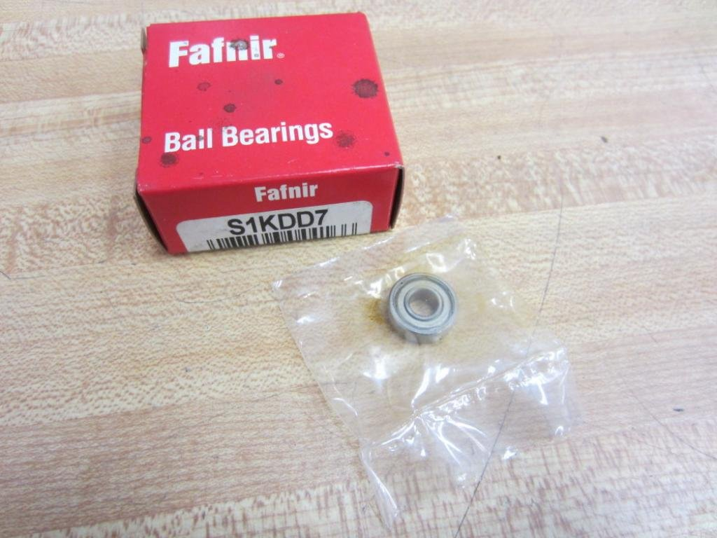 Fafnir S1KDD7 Single Row Shielded Deep Groove Radial Ball Bearing