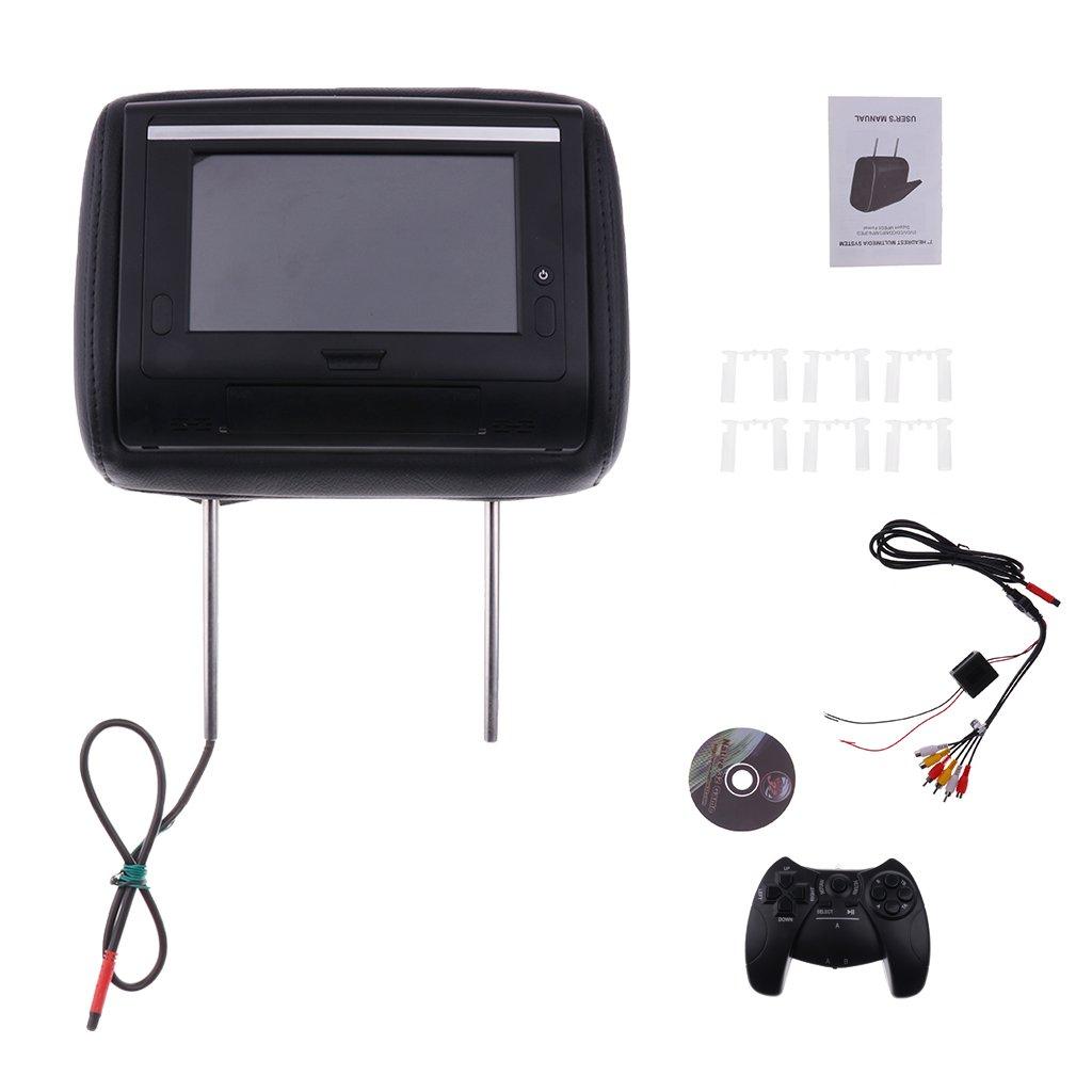 Baoblaze ユニバーサル ブラック 車用 FMトランスミッタ 1080Pスクリーン DVDプレーヤー ヘッドレスト テレビモニター B079DLVS7Q