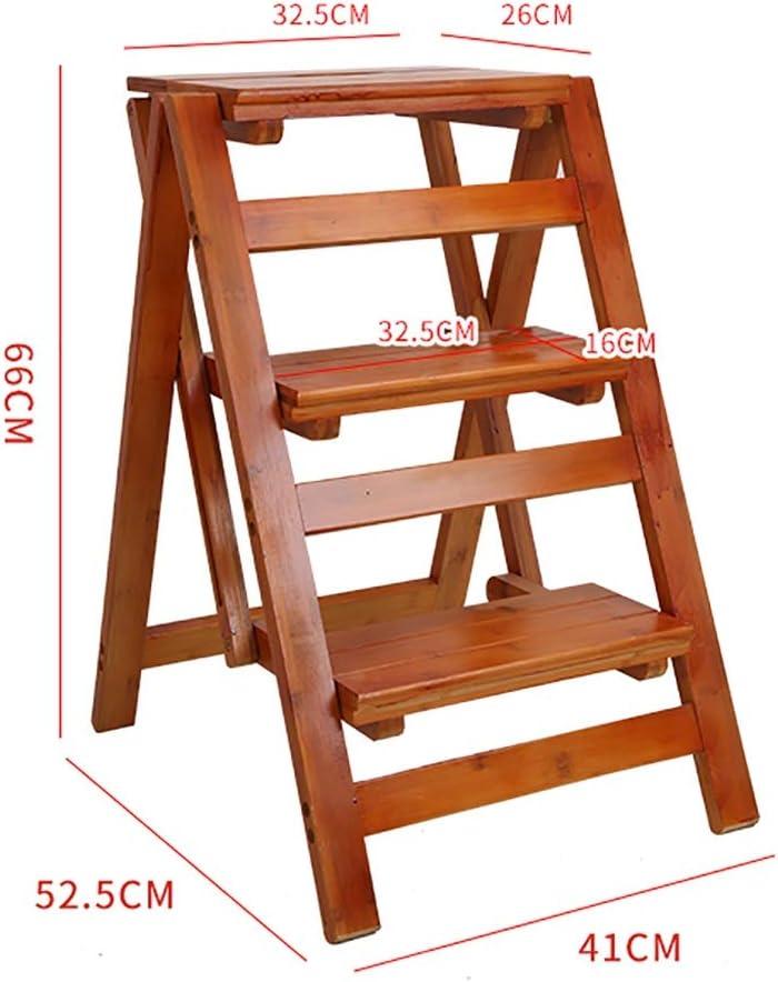 GWXSST Escalera Telescópica Escalera Plegable multifunción para Uso doméstico Escalera de Uso 3 Capas de Madera Maciza Engrosamiento Escalera Interior Taburete (Color : B): Amazon.es: Hogar