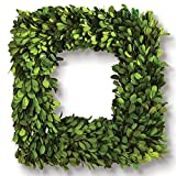 Porch & Petal Boxwood Square Wreath, 16''