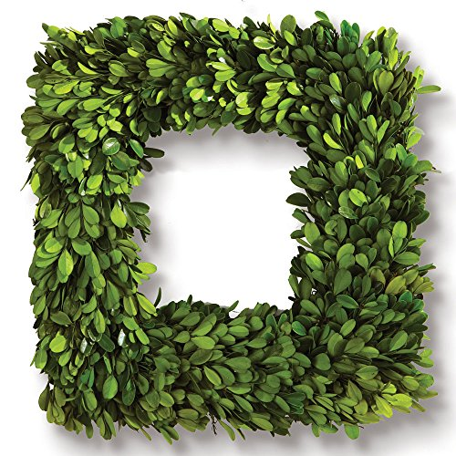 Porch & Petal Boxwood Square Wreath, 16""