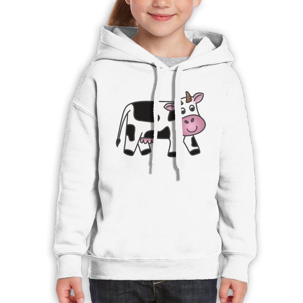 DTMN7 Cow Cute Cute Printed Long Sleeve Hoodie For Kids Spring Autumn Winter