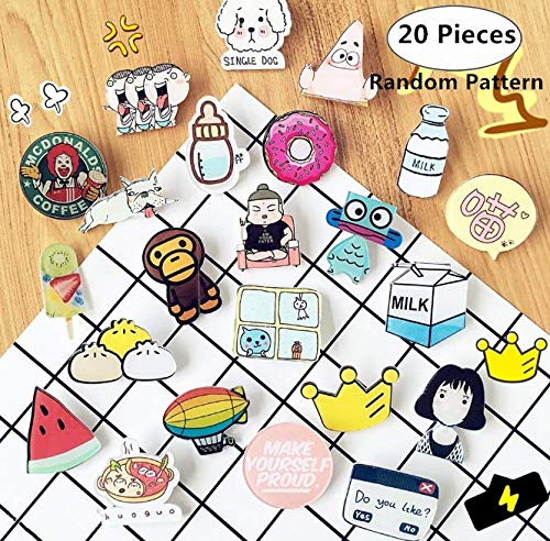 20 Pieces Acrylic Brooches Set, Magnoloran Creative Cartoon Animal Acrylic Badges Decorative Brooches Pins Label Pins for Children Women Girls Clothing Bags Jackets Backpack Hat Decor