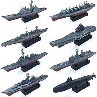 8 Sets 3D-Puzzle Model Battleship Aircraft Carrier Toy Submarine, Plastic Model Warships Ship Kits, Navy Ship Battleship…