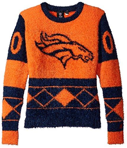 Denver Broncos Eyelash Ugly Sweater Medium