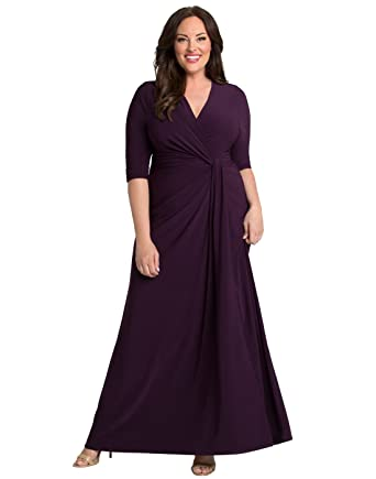 82ab4810e773d Kiyonna Women s Plus Size Romanced by Moonlight Gown at Amazon Women s  Clothing store