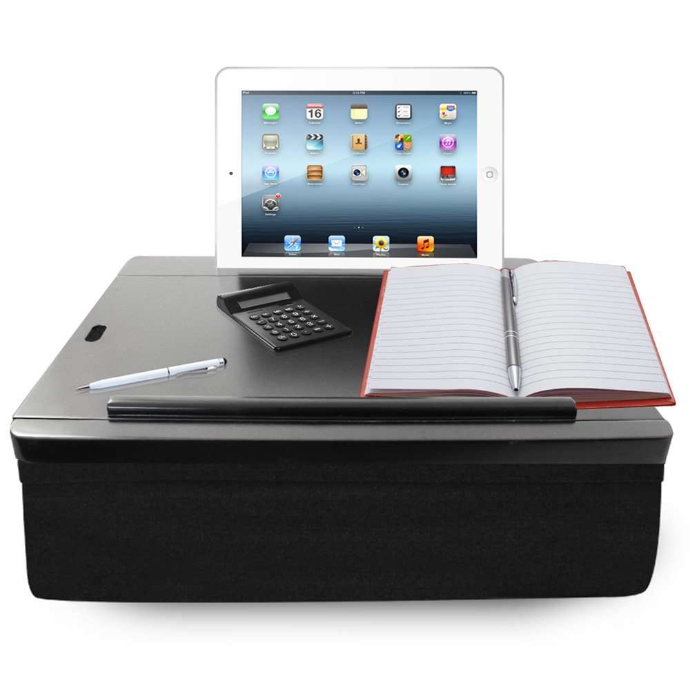 iCozy Portable Cushion Lap Desk With Storage - Black