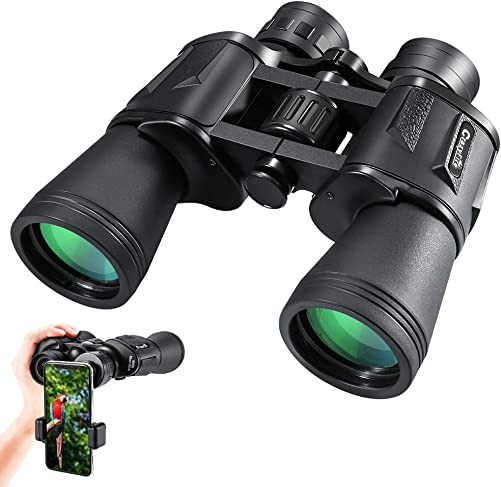 CrazyFire HD Compact Binoculars for Adults,10 50 Wide-View Binoculars with FMC Lens, Travel Binoculars for Bird Watching,Hunting,Sports Events