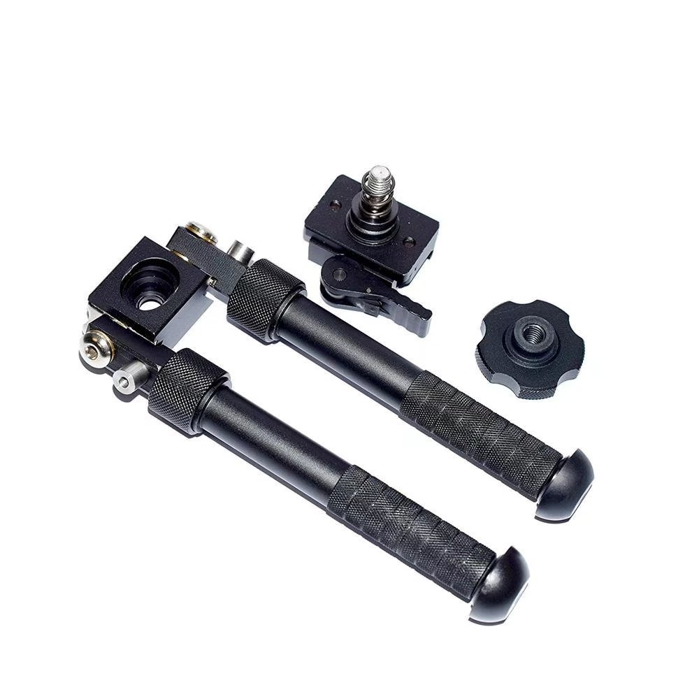 JahyShow Tactical Rifle Bipod Outdoors CNC QD Adjustable Fit Picatinny Rail (Black, 6.5 - 9 inch) by JahyShow (Image #3)